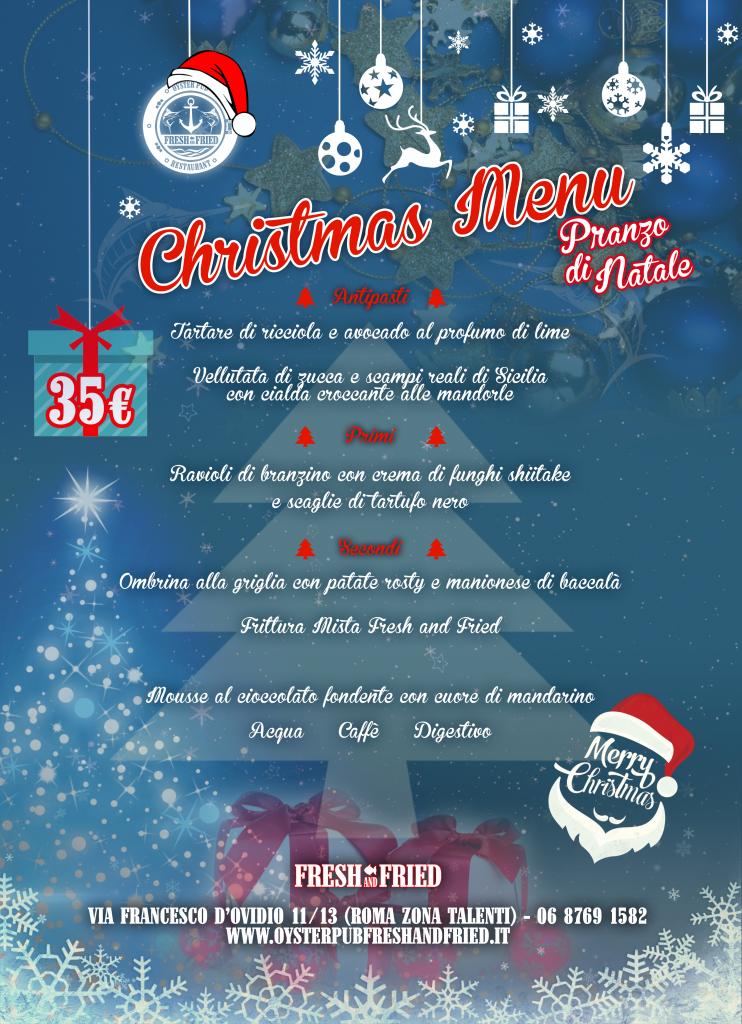 Menu Di Natale A Roma.Fresh And Christmas Christmas Menu 25 Dicembre Pranzo Di