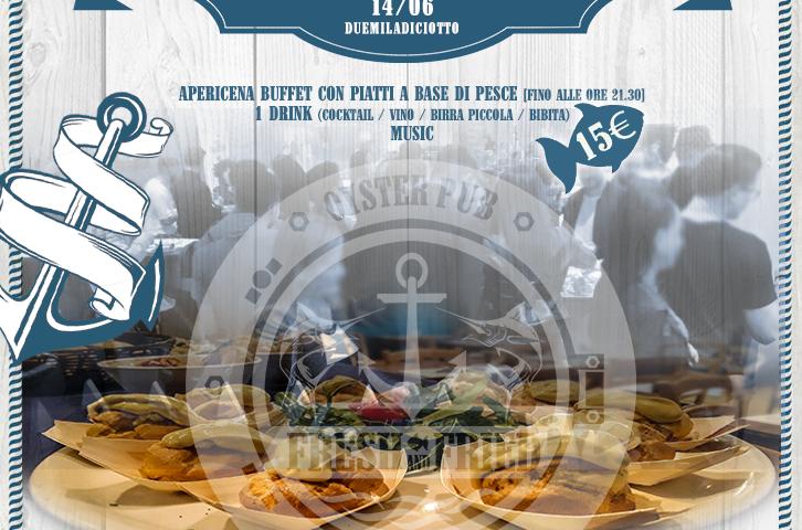 Aperitif in Fresh: FoodFish Buffet / Cocktail Bar / Music
